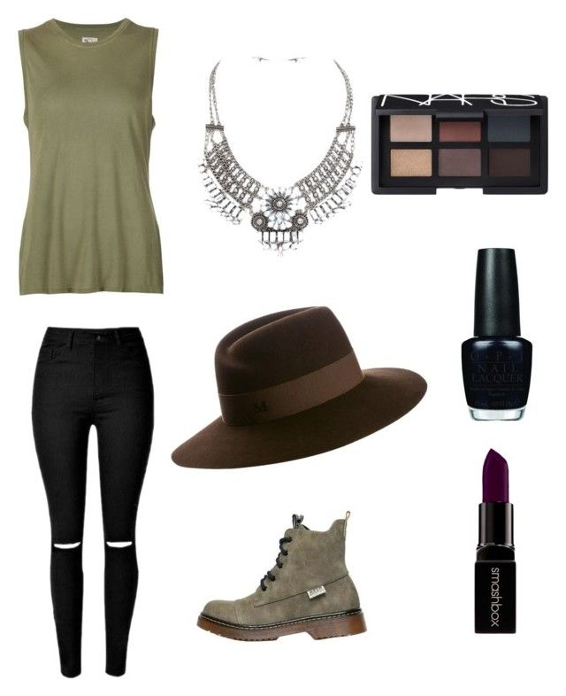 """My Army school style by Mimi"" by mokatsanemk on Polyvore featuring 321, Maison Michel, Smashbox, OPI, NARS Cosmetics, women's clothing, women, female, woman and misses"