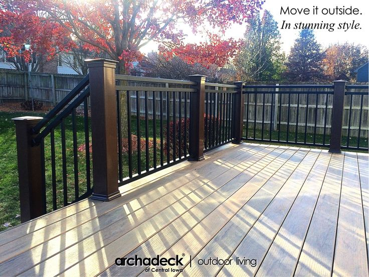 Westbury Rivera Aluminum Rail on TimberTech Legacy Deck - Des Moines (Clive)
