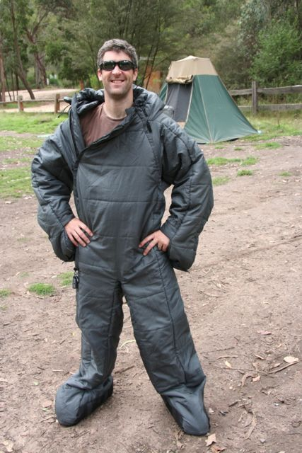 I may need this for Camping on May Long Weekend...Snuggie for campers :) Selk Bag