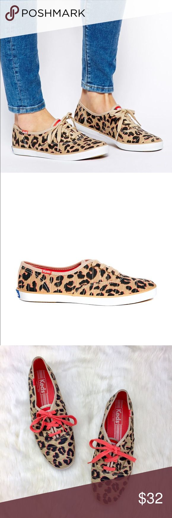 Keds Champion Leopard Plimsoll Trainers Adorable multi-color leopard print sneakers in the classic Keds Champion style. Only worn once. Practically brand new! Keds Shoes Sneakers
