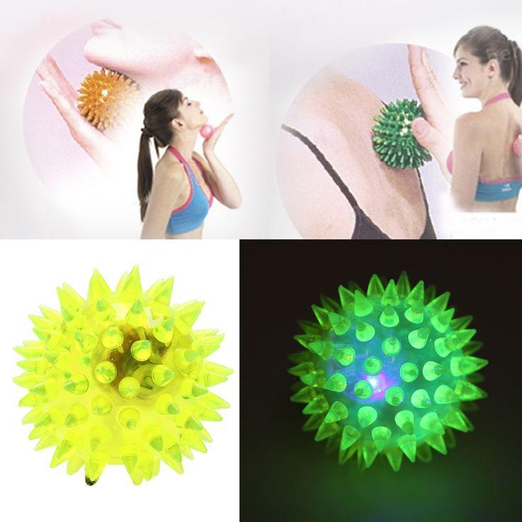 Bayi berkedip cahaya up spikey tinggi bouncing balls novelty sensory hedgehog bola toys bola otomatis off