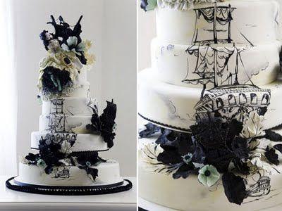 Pirate wedding cake? I think I will! :)