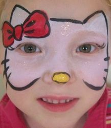 FACE PAINTING PARADISE IN SALT LAKE CITY UTAH - hello kitty full face
