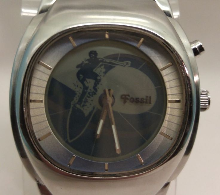Fossil Big Tic Animated Surfer Men's Watch JR-8286 Stainless Steel Water Resist $49.00  #Fossil #Surfer www.iiwiiMerchandise.com