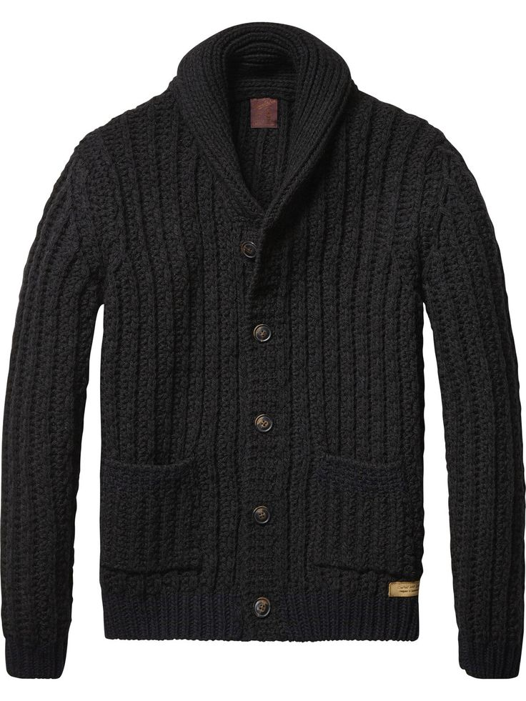 Chunky Knit Cardigan | Pullover | Men's Clothing at Scotch & Soda