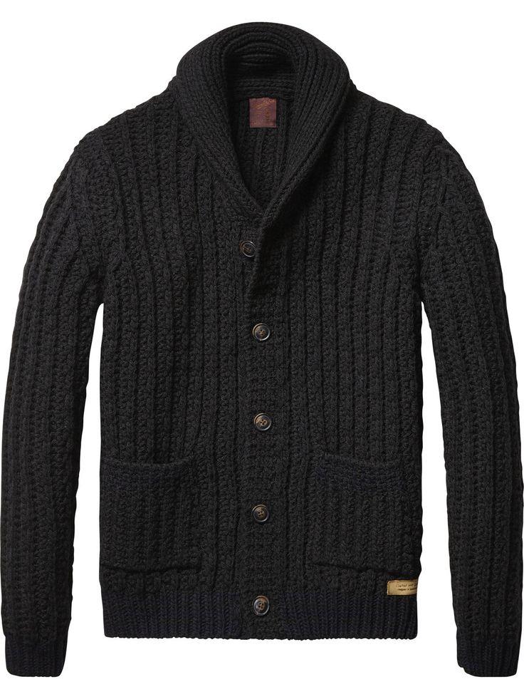 Cardigan en tricot épais | Pull | Habillement Homme Scotch & Soda