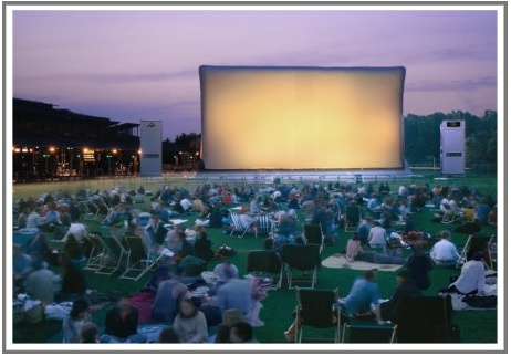 Cinema plein air la Villette