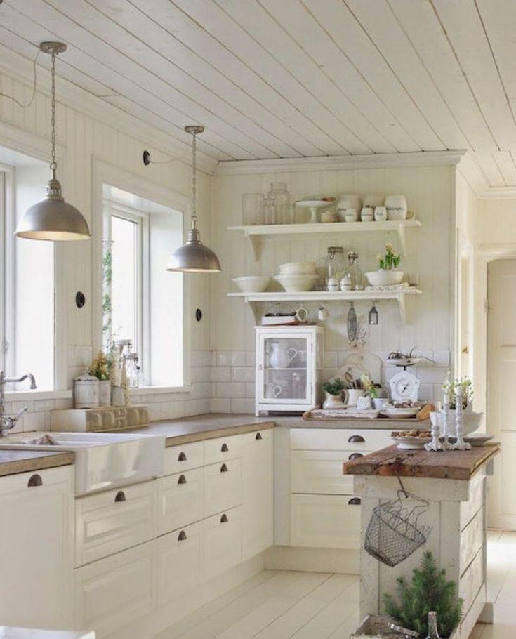 Cool 40 Stunning Farmhouse Kitchen Ideas on A Budget https://roomadness.com/2017/10/27/40-stunning-farmhouse-kitchen-ideas-budget/