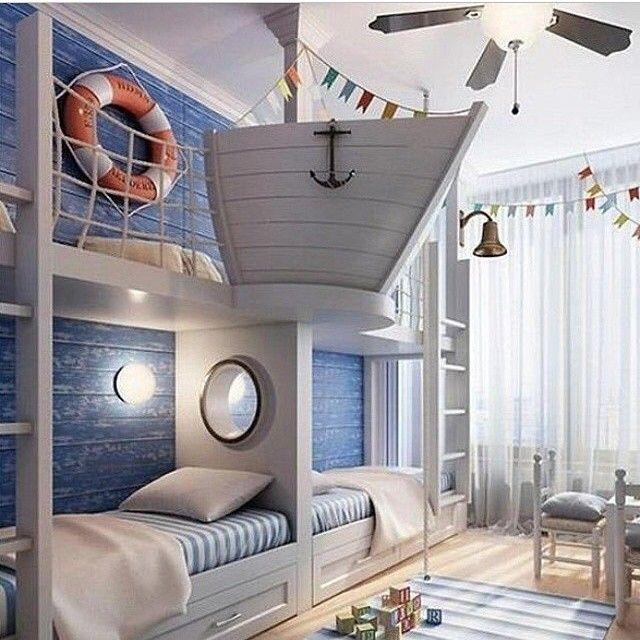 #ShareIG Kanske inte byggvaror överallt men kolla så coolt och inspirerande rum. @Latoya Smith Ha en fortsatt bra fredag alla följare #båtar #segel #båttema #båtrum #barnrum #barnrumsinspo #inspo
