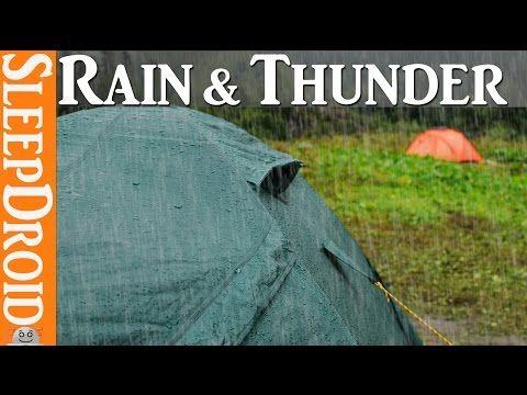 ►10 Hours of rain on a tent with thunder ~ rain on tent/rain sounds ☂ Barraca de acampanento - YouTube