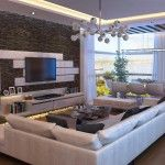 Living Room Used White Sofa Furniture Decorations
