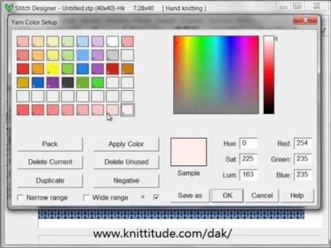 DesignaKnit 8 Stitch Designer Tutorial - Yarn Palette