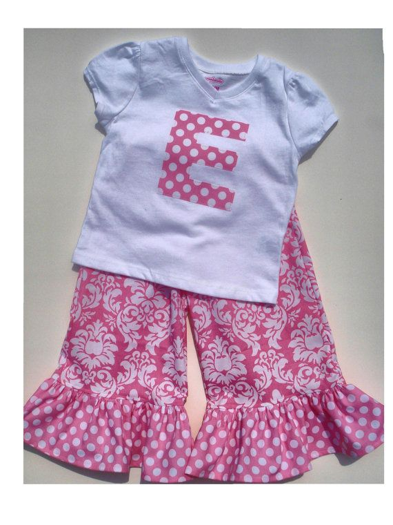 Hey, I found this really awesome Etsy listing at https://www.etsy.com/listing/73397263/girls-ruffle-pantscapri-teeonesie-in