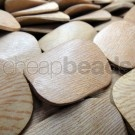 Rosewood Large Flat Twisted Wood Beads