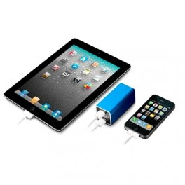 Taff Power Bank 10400mAh Dual USB Output Model HAME-MP1 ( MP1 ) - Blue - Gudang Gadget Murah