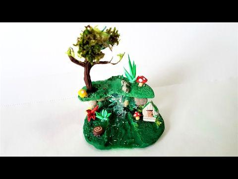 Miniature Fairy Garden in a Glass ✔ Polymer Clay Tutorial - YouTube