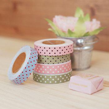 Fabric Tape : Dot Ground - Olive – Dailylike Australia