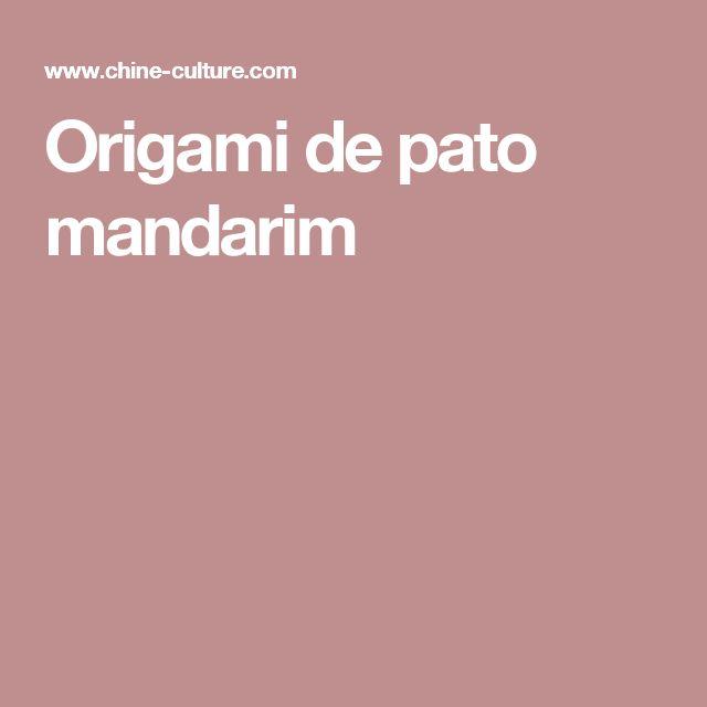 Origami de pato mandarim