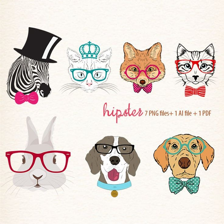 Hipster animals image by Sharron Cooper* on Michelle and ...