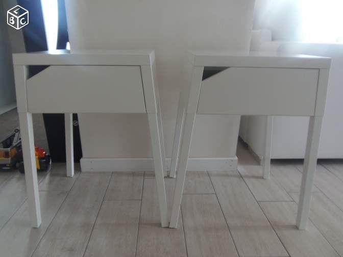 2 tables de nuit blanches neuves Ameublement Côtes-d'Armor - leboncoin.fr
