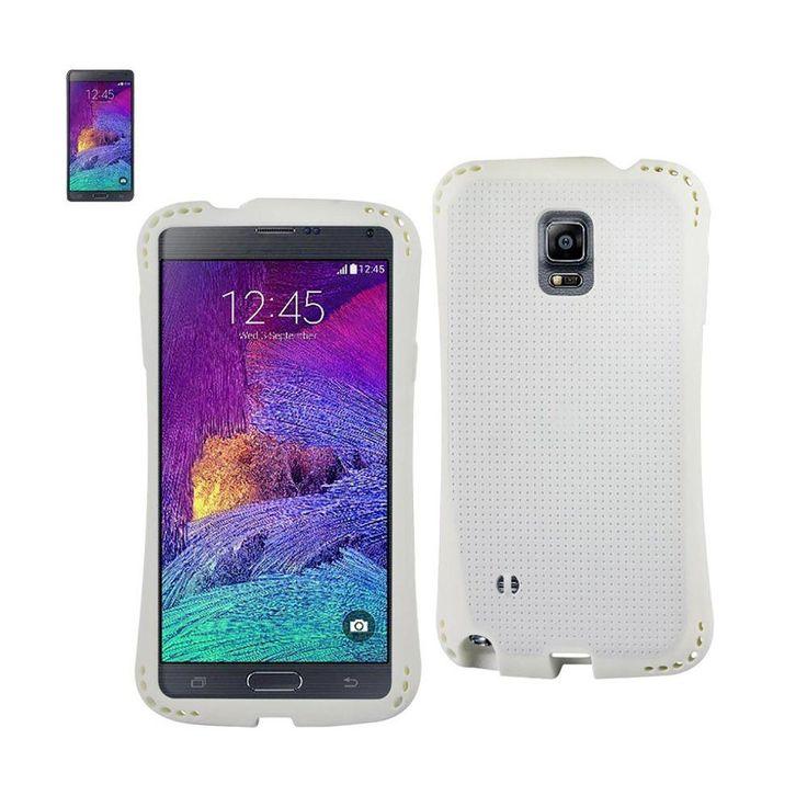 Reiko Dual Color TPU Case For Samsung Galaxy Note 4 N910V/ N910P/ N910T/ N910R4 White