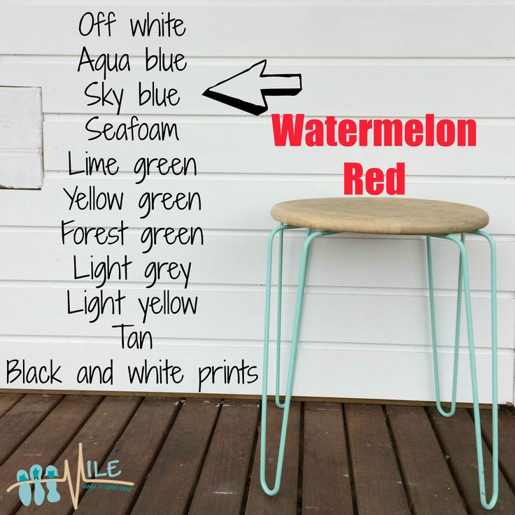 Watermelon red goes with...