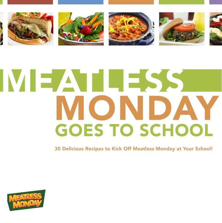 """""""Meatless Monday Goes to School"""" features 30 bulk recipes for K-12 schools! Free download: http://bit.ly/mmk12cookbook"""