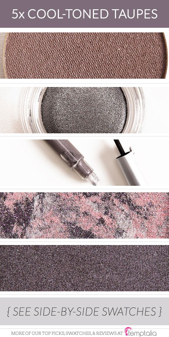 5 Smoldering Cool-Toned Taupe Eyeshadows
