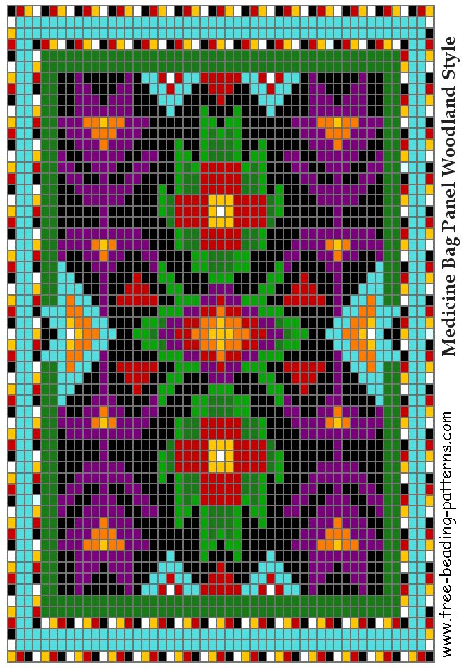 Great Lakes #02 Woodland Loom Beadwork Design - FREE PATTERN