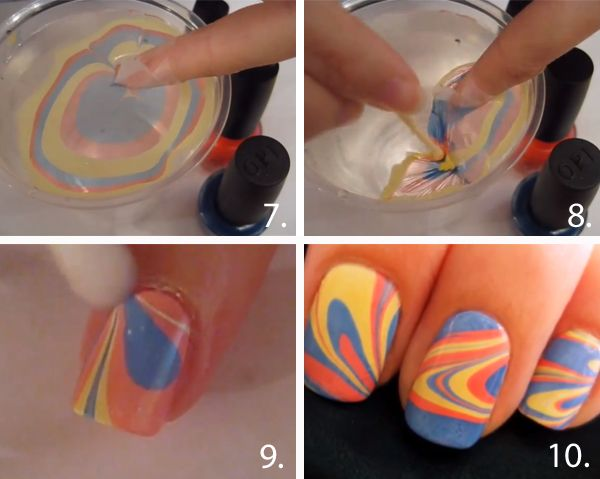 How to: watermarble nails - Beauty - Styletoday.nl > Nagellak; alles over nagels, nailart, nagellaktrends, french manicure - Beauty - Styletoday