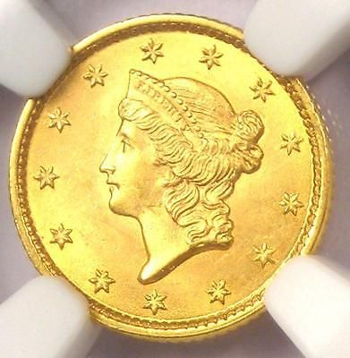 1853 Liberty Gold Dollar Coin G$1 - NGC MS65 - Rare in MS65 - $3800 Value!