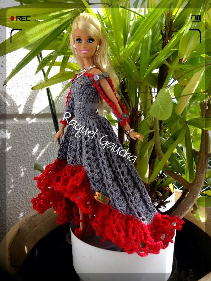 #Cléa5 #Crochet #Barbie #Muñeca #Doll #Vestido #Dress #RaquelGaucha