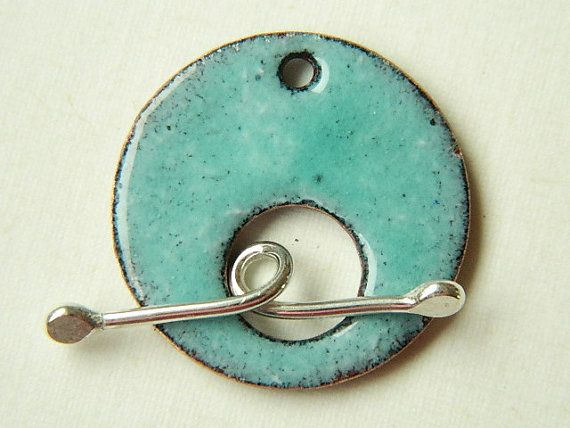 Turquoise Enameled Toggle Clasp with by BeadSwedeSupplies on Etsy, $8.50