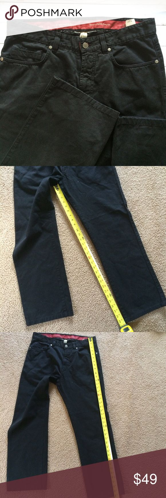 Ermenegildo Zegna Black Denim Men's Pants Size 34 Previously used but in great Condition! Might be missing a label inside Ermenegildo Zegna Pants