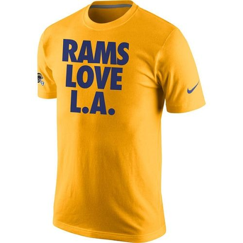 NFL Los Angeles Rams Nike Rams Love L. A.T-Shirt - Gold