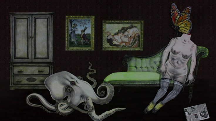 Domestikia, Chapter 3: La Petite Mort by Jennifer Linton. This project was inspired by the surreal animations of Lenica, Borowyck and Svankmajer, Japanese tentacle erotica, and those strange, middle-of-the-night dreams one has after spicy food.