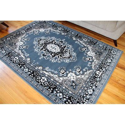 Persian-rugs Oriental Country Blue Isfahan Area Rug