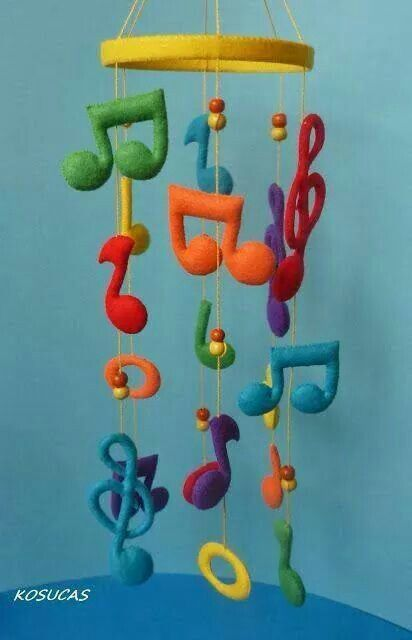 music notes mobile