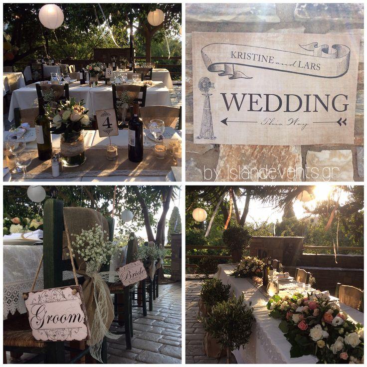 Garden wedding Naxos Greece by islandevents.gr