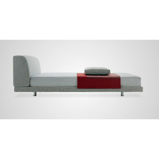 Greg is a padded frame single #bed by @zanotta  upholstered with polyurethane and polyester. Coating available in fabric or leather.