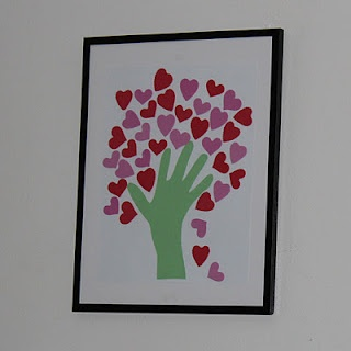 Kid made DIY Heart tree
