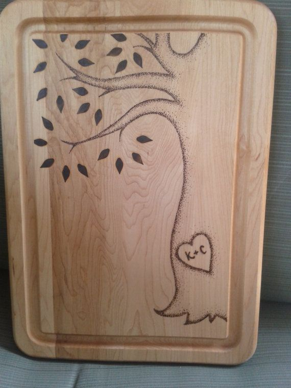 The Loving Tree | Customized Cutting Board | Personalized Serving Board | Wedding Present | Shower Gift | Anniversary Gift