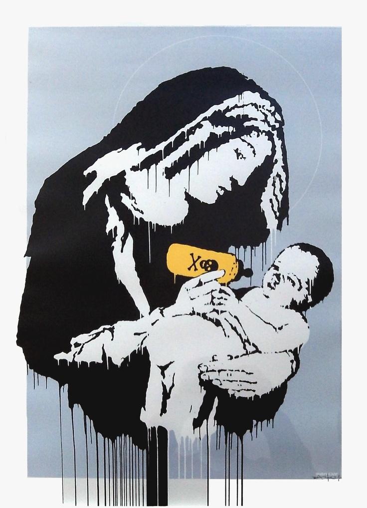 Bansky Toxic Mary - 2003 - 70x50 cm - edition 86/150 - Pochoir