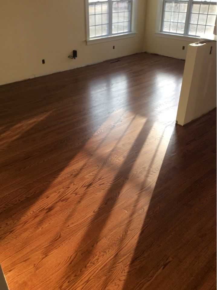 Red Oak Floor Stained With English Chestnut Red Oak