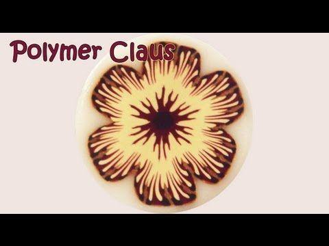 ▶ Tutorial Millefiori Cane: Bordeaux Flower (polymer clay tutorial) - YouTube