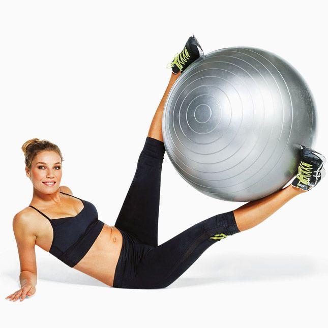 Упражнения с фитболом на фото: для пресса, ягодиц, мышц ...