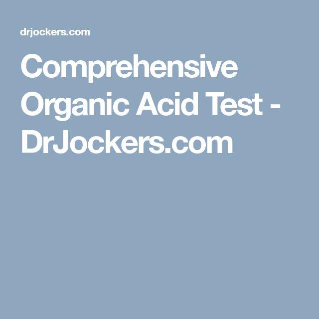 Comprehensive Organic Acid Test - DrJockers.com
