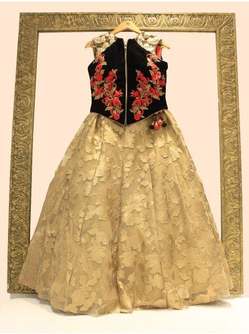 Cape pattern anarkali dress designs indian party wear long gown - 210 Best Images About Kids Dress Patterns On Pinterest