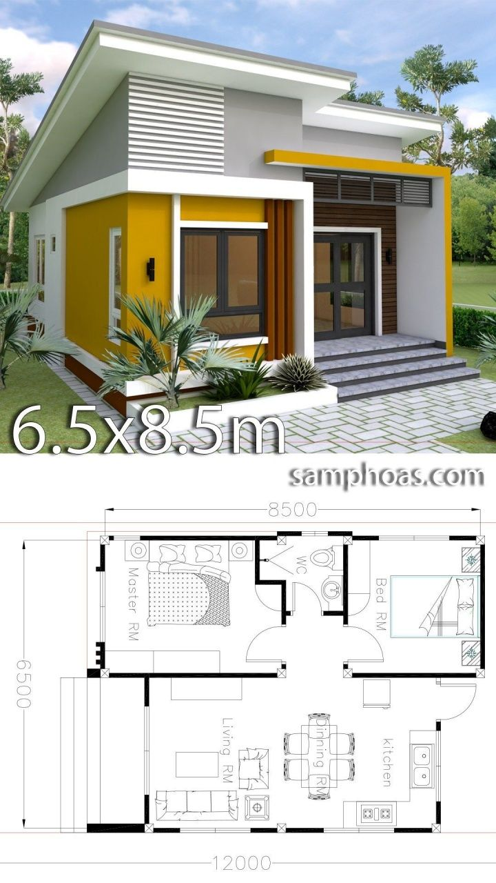 2 Bedroom Tiny House Plans In 2020 Small House Design Plans Simple House Design Small House Design