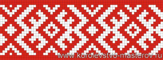 Схема вышивки: Русских Вышивок